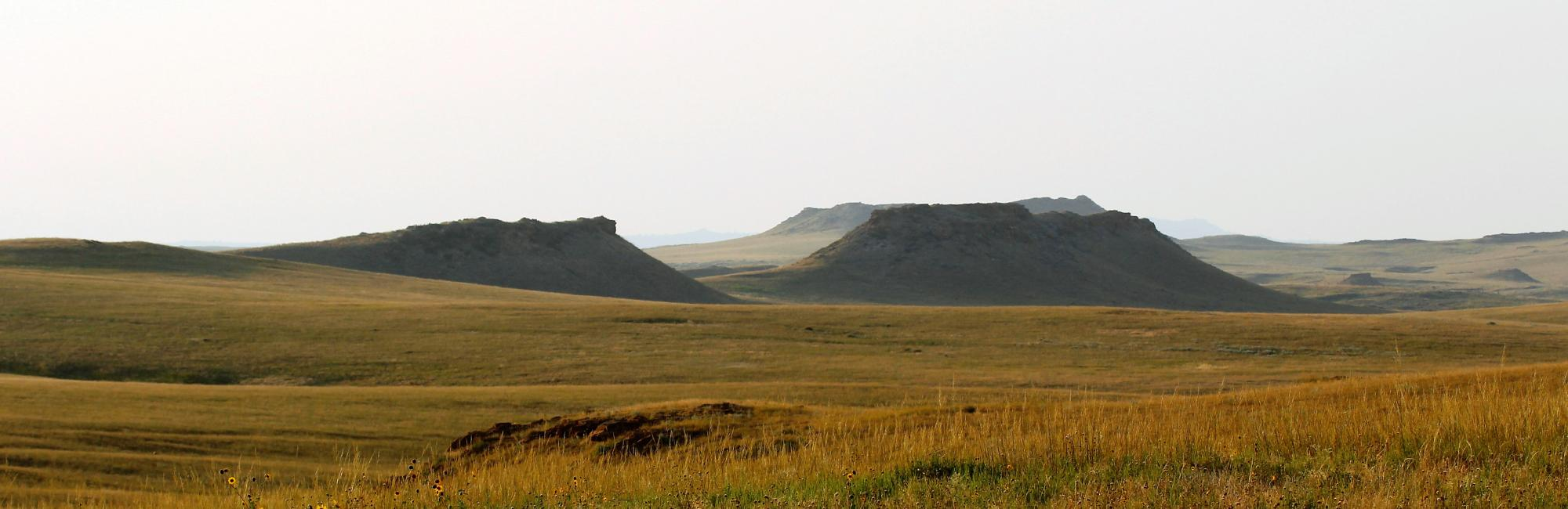 Buttes on the landscape